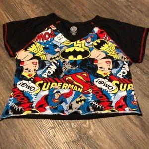 DC Comics Cropped Shirt
